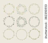 floral wreaths collection.... | Shutterstock .eps vector #382350553