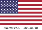 flag of america | Shutterstock .eps vector #382353010
