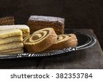 Various Cake Pieces Of...
