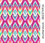 colorful ikat   seamless... | Shutterstock .eps vector #382374916