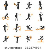 sports simple icons for web and ... | Shutterstock .eps vector #382374934