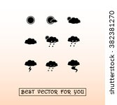 weather sign icons  vector... | Shutterstock .eps vector #382381270