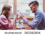 phubbing  always connected ... | Shutterstock . vector #382382806