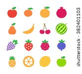 fruits icons | Shutterstock .eps vector #382401103