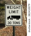 Road Sign For Truck Weight...
