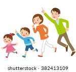 parent and child to run ... | Shutterstock . vector #382413109