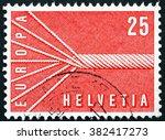 switzerland   circa 1957  a... | Shutterstock . vector #382417273