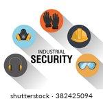 safety equipment design  | Shutterstock .eps vector #382425094