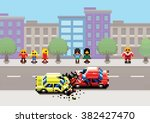 car crash accident on street ... | Shutterstock .eps vector #382427470