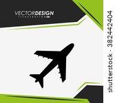 airplane icon design  | Shutterstock .eps vector #382442404