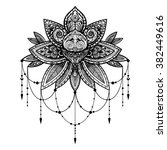 vector black and white tattoo... | Shutterstock .eps vector #382449616