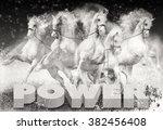 horse power inspiration... | Shutterstock . vector #382456408