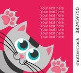 cute happy birthday card.... | Shutterstock .eps vector #382459750