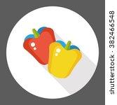 vegetable green pepper flat icon | Shutterstock .eps vector #382466548