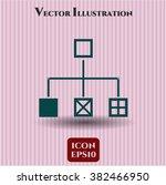 flowchart vector icon or symbol | Shutterstock .eps vector #382466950