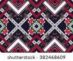 geometric ethnic oriental... | Shutterstock .eps vector #382468609