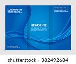 vector empty tri fold brochure... | Shutterstock .eps vector #382492684