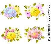 flower set | Shutterstock .eps vector #382494430