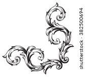 vintage baroque frame scroll... | Shutterstock . vector #382500694
