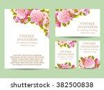 vintage delicate invitation... | Shutterstock .eps vector #382500838