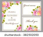vintage delicate invitation... | Shutterstock .eps vector #382502050