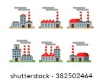 factory corporation vector... | Shutterstock .eps vector #382502464