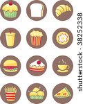 illustration of food items on... | Shutterstock . vector #38252338