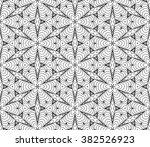 vector black white seamless... | Shutterstock .eps vector #382526923