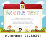 certificate template with... | Shutterstock .eps vector #382536994