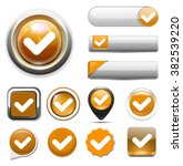 confirm icon | Shutterstock .eps vector #382539220