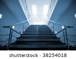 marble staircase with a steel... | Shutterstock . vector #38254018