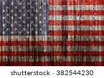 American Flag Painted On Old...
