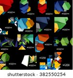 collection of geometric banners   Shutterstock .eps vector #382550254