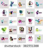 collection of colorful abstract ... | Shutterstock .eps vector #382551388