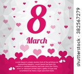 vector background with hearts...   Shutterstock .eps vector #382567279