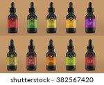 vape bottles with liquid | Shutterstock .eps vector #382567420