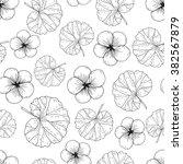 floral seamless pattern.... | Shutterstock .eps vector #382567879