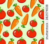 vegetables seamless pattern... | Shutterstock .eps vector #382574038
