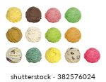 ice cream scoops 13 scoop | Shutterstock . vector #382576024