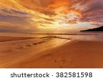 Tropical Beach In Ebb Time On...