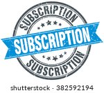 subscription blue round grunge... | Shutterstock .eps vector #382592194