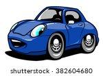 cartoon car. vector illustration   Shutterstock .eps vector #382604680