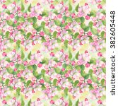 watercolor floral seamless... | Shutterstock . vector #382605448