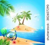 island beach | Shutterstock .eps vector #382607290