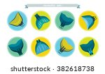 collection of freediving icons... | Shutterstock .eps vector #382618738