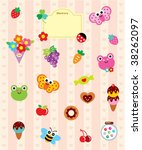 cutie garden sticker | Shutterstock .eps vector #38262097
