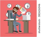 business man very busy | Shutterstock .eps vector #382626346
