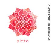 pitta dosha abstract symbol... | Shutterstock .eps vector #382638340