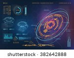 hud ui for business app.... | Shutterstock .eps vector #382642888