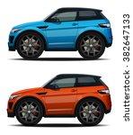 vector modern cartoon car | Shutterstock .eps vector #382647133